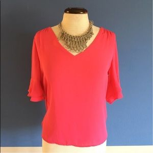New York & Company Pink Blouse